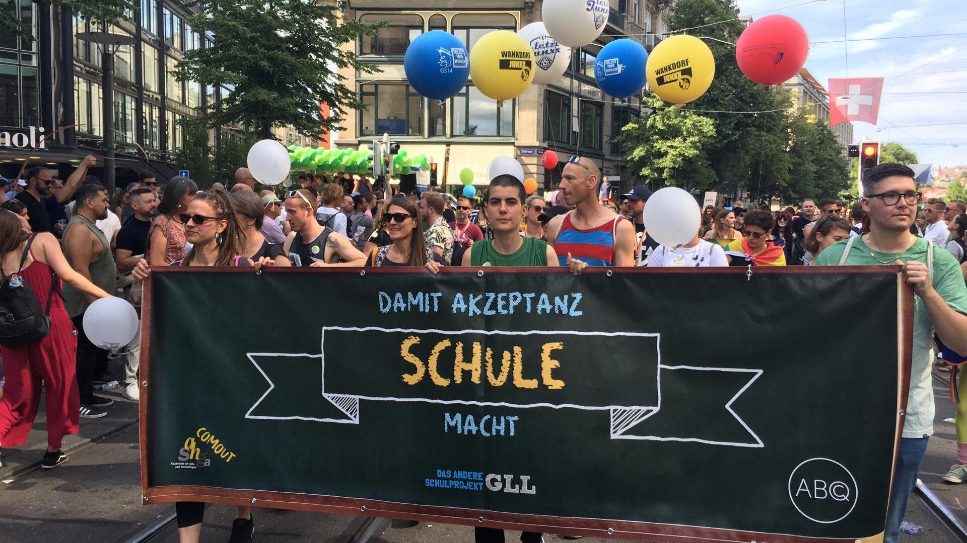 COMOUT-Schulprojekt an der Züri Pride 2019